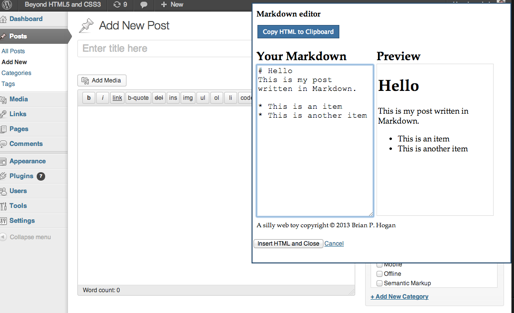 MarkDownMark - Markdown-to-HTML Bookmarklet